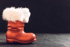 Red boots of Santa Royalty Free Stock Photography