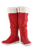 Red boots on a white Stock Photos