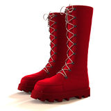 Red boots. Stock Photos