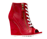 Red boots Royalty Free Stock Images