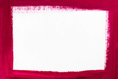 Red border painted on white paper. Red color border painted on white paper Stock Illustration