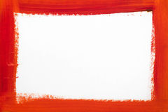 Red border painted on white paper. Red color border painted on white paper Vector Illustration