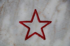 Red bordered star Stock Photography
