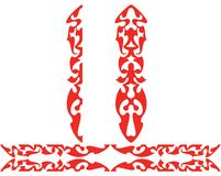 Red borders. Decorative items prepared for different usage Stock Photography
