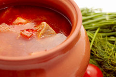 Red borsch Royalty Free Stock Photo