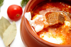 Red borsch Royalty Free Stock Images