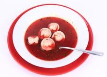 Red borscht Stock Photos