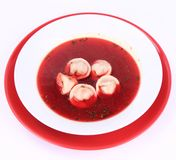 Red borscht Royalty Free Stock Image