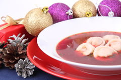 Red borscht Royalty Free Stock Photos