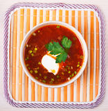 Red borscht (soup) Royalty Free Stock Photography