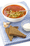 Red borscht Stock Photos