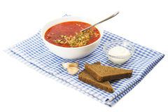 Red borscht Stock Photography