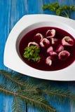 Red borscht Royalty Free Stock Photos