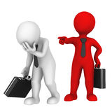 Red boss dismisses subordinated. You fired! Royalty Free Stock Images