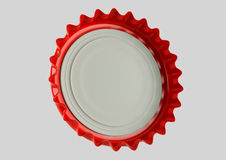 Red Bottle Cap Back View Stock Image