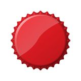 Red bottle cap Royalty Free Stock Photography