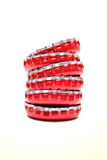 Red Bottle Caps Royalty Free Stock Image
