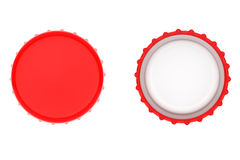 Red Bottle Caps Stock Images