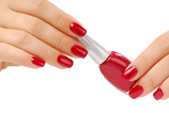 Free Red Bottle Of Nail Polish Royalty Free Stock Photography - 3819827