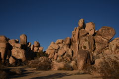 Red Boulders Scenic Stock Images