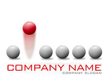 Red Bouncing Ball Company Logo Royalty Free Stock Images