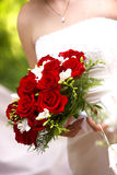 Red bouquet. Wedding Bouquet flowers - series Stock Photos