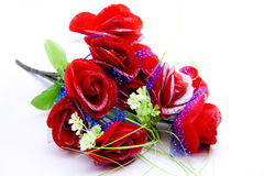 Red bouquet. On white background Royalty Free Stock Images