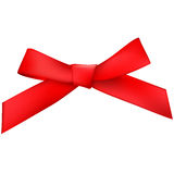 Red  bow. Small red  bow ( illustration Stock Photography