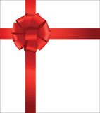 Red Bow. And ribbon with shine  isolated Royalty Free Stock Photo