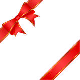 Red bow. Royalty Free Stock Images