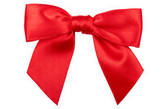 Red bow. Royalty Free Stock Photo
