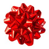 Red Bow. (with clipping path for easy background removing Royalty Free Stock Image