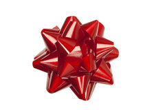 Red Bow. Red festive bow, clipping path included Royalty Free Stock Image