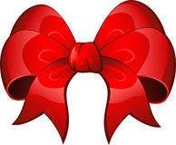 Red Bow. Vector Red Bow over white. EPS 8 Stock Photos