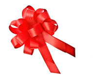 Red bow. Isolated on white royalty free stock photography