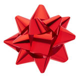 Red bow. Isolated on white, clipping path included Stock Image