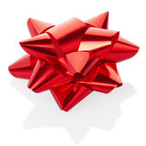 Red bow. Isolated on white, clipping path included Royalty Free Stock Photos