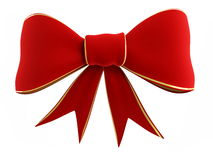 Red bow. On a white background Stock Photos