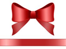 Red bow. Isolated on white background Stock Image
