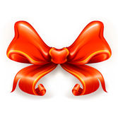Red Bow. Isolated on the white Royalty Free Stock Photography