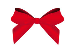 Red bow. Isolated over white backround. vector Stock Images