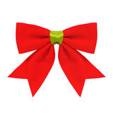 Red Bow. Isolate on white royalty free stock image