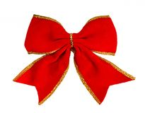 Red bow,. Isolated on white background Royalty Free Stock Photos