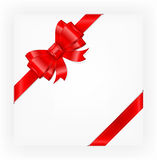 Red bow. Big red gift bow with ribbons, illustration vector Royalty Free Stock Images