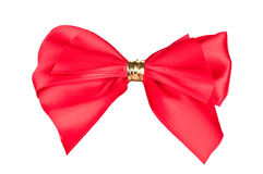 Red bow. Isolated on white background Royalty Free Stock Photos