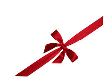 Red bow 3. A red bow for decorating Stock Photo