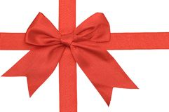 Red bow. On a white background Royalty Free Stock Image