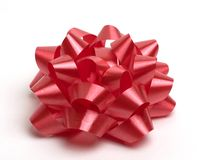 Red bow. Single red bow for giftwrapping Royalty Free Stock Image
