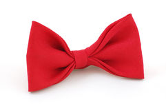 Red bow. Tie isolated on the white stock photo
