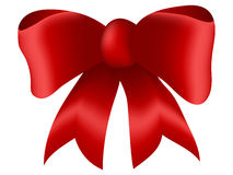 Red Bow. White Background royalty free illustration